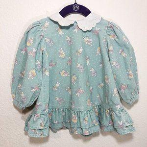 Vintage Oshkosh Bunny Dress Peter Pan Collar 24M